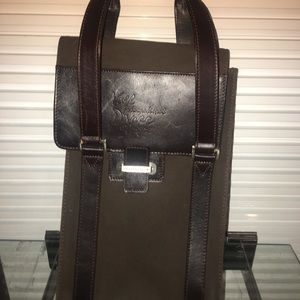 Cutter&Buck canvas&leather wine valet - carryall